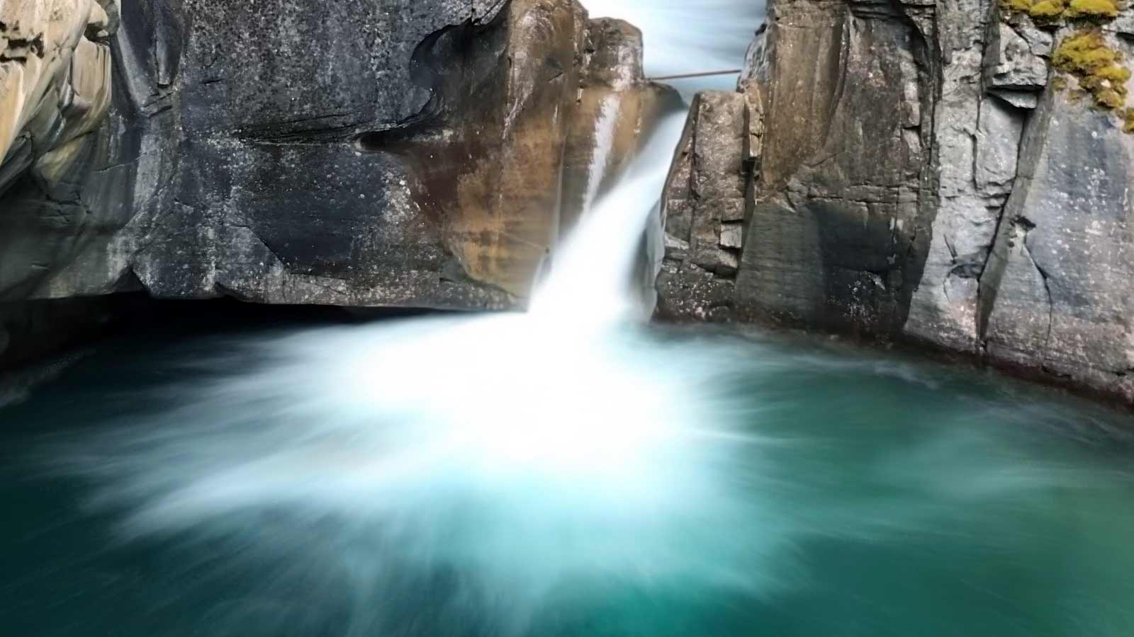 Johnston Canyon Lower Falls in Canada